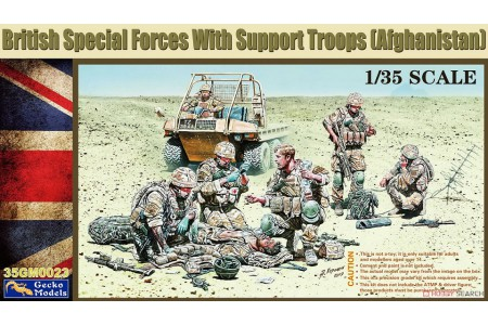1/35 British Special Forces with Support Troops Afghanistan