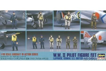 1/48 WWII pilot figures set