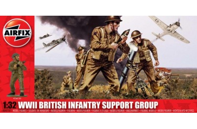 1/32 (1/35) WWII British infantry support group