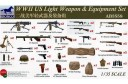 1/35 WWII US light weapon and equipment set