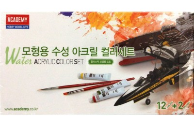 Warter acrylic paints set (12 colors)