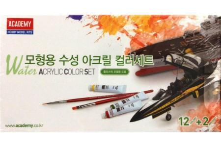 Warter acrylic paints set (12 colors)
