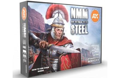 Acrylic paint set: Non Metalic Metal Steel
