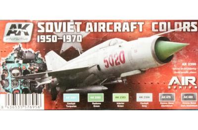 Acrylic paint set: Soviet aircraft colors 1950-1970