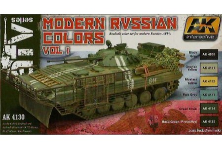 Acrylic paint set: Modern Russian colors Vol. 1