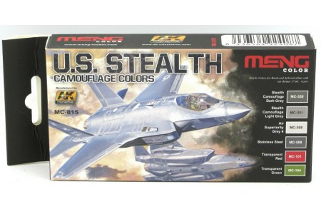 Acrylic paint set: US Stealth Camouflage colors