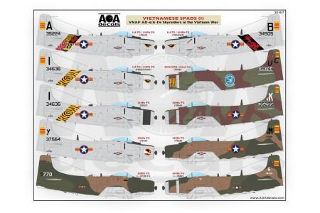 1/32 VNAF Skyraiders in the Vietnam war decal No. 1