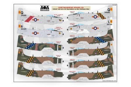 1/32 VNAF Skyraiders in the Vietnam war decal No. 2