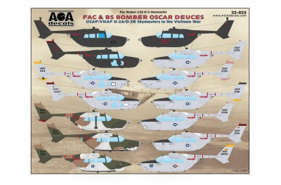 1/32 O-2 Skymasters in the Vietnam war decal