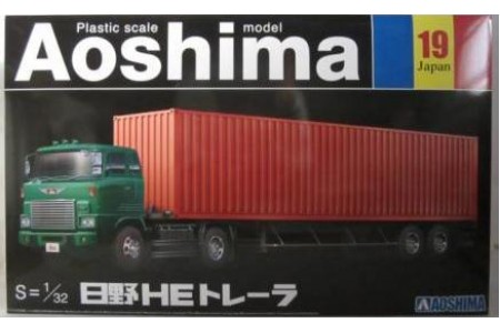 1/32 HINO HE tractor with 1X40' container on trailer