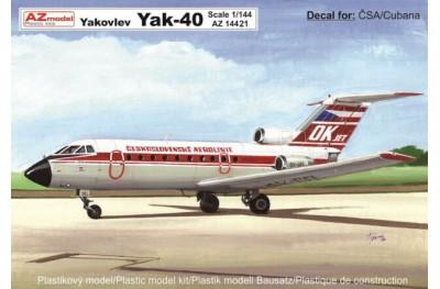 1/144 Yakolev Yak-40 Cubana