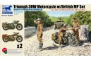 1/35 Triumph 3HW Motorcycle w/ 3 soldiers (2 kits)
