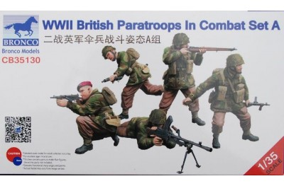 1/35 WWII British paratroops in combat set A