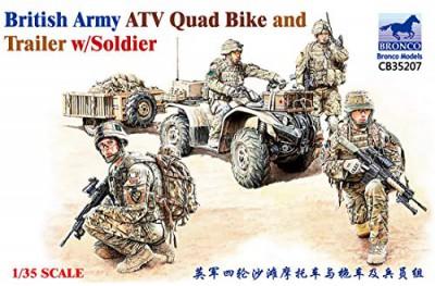 1/35 British Army ATV Quad Bike w/ soldiers