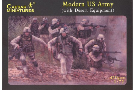 1/72 Modern US army w/desert equipment