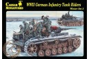 1/72 WWII German infantry tank riders winter
