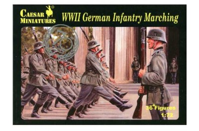 1/72 WWII German infantry marching
