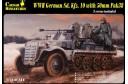 1/72 German Sdkfz 10/4 w/ flak 38