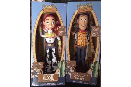 15 inches Toy Story pull string talking Woody and Jessie