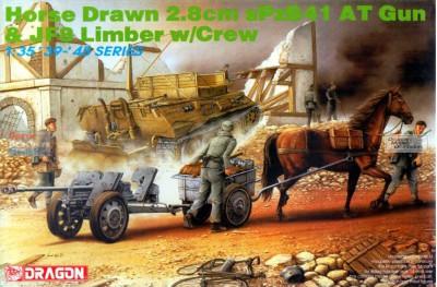 1/35 Horse Drawn 2.8cm Gun with crew