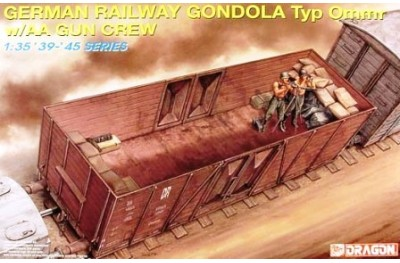 1/35 German railway Gondola typ w/ AA gun crew