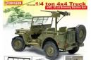 1/6 Jeep Willys w/ Browning 0.5 cal machine gun