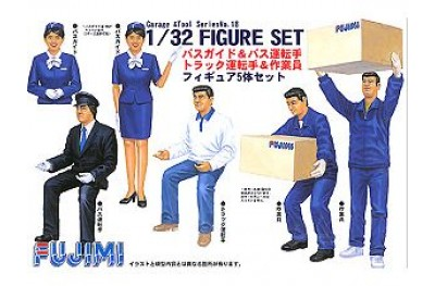 1/32 (1/35) Bus guide and drivers