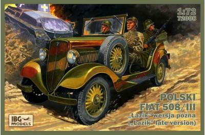 1/72 Fiat 508/III Lazik car WWII