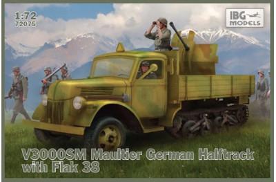 1/72 V3000 SM Maultier halftrack w/ flak 38 gun