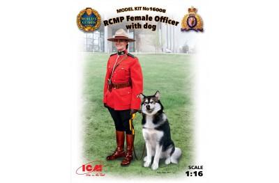 1/16 CANADIAN FEMALE OFFICER W/ DOG