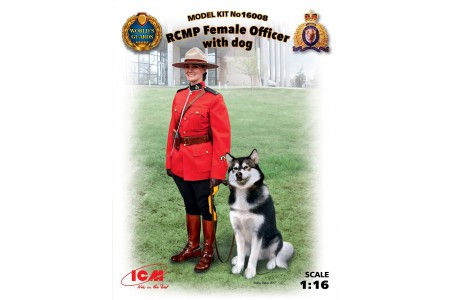 1/16 CANADIAN FEMALE OFFICER W/ DOG