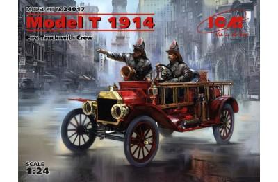 1/35 Model T 1914 Fire truck w/ crew