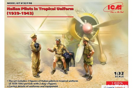 1/32 Italian pilots in tropical uniform 1939-1943