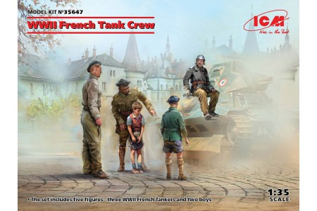 1/35 WWII French tank crew