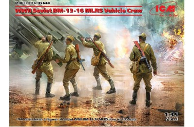 1/35 Soviet MRLS Vehicle crew WWII