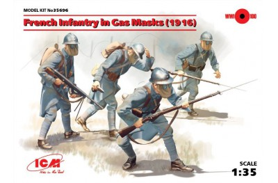 1/35 French infantry in gas masks 1916