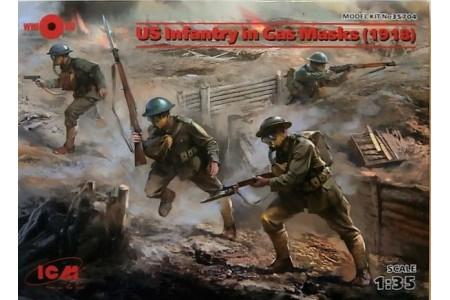 1/35 US infantry in gas masks 1918