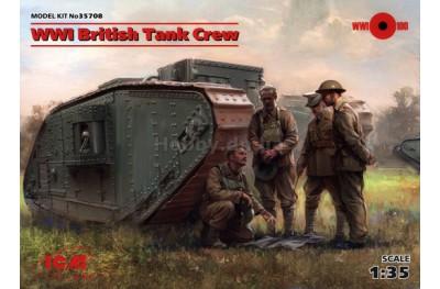 1/35 WWI British tank crew