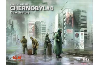 1/35 Chernobyl 4 decativators diorama