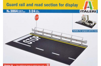 1/24 Guard rail and road section for display