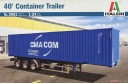 1/24 40 feet container on trailer