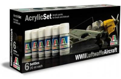 Acrylic paint set: WWII Luftwaffe Aircraft