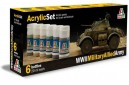 Acrylic paint set: WWII Military Allied Army