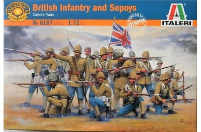 1/72 British infantry and Sepoys