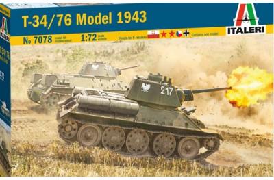 1/72 T-34/76 Mod 1943 w/ 2 soldiers
