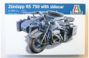 1/9 Zundapp KS 750 Motorcycle with side car