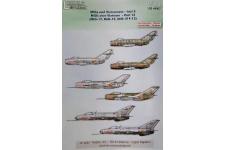 1/48 MiGs over Vietnam decals