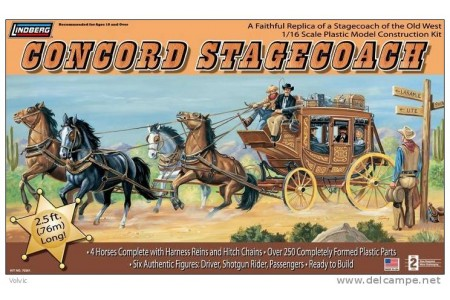 1/16 Concord Stagecoach