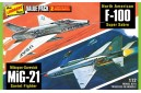 1/72 F-100 vs MiG-21 Battle Damaged (2 kits)