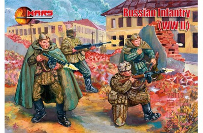 1/72 Russian infantry WWII